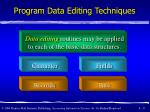 program data editing techniques