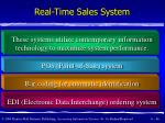 real time sales system