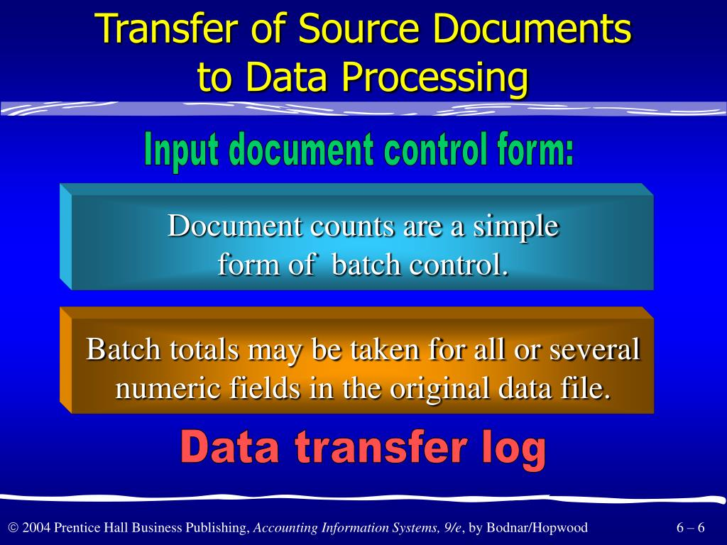 Transfer of Source Documents