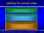 updating the general ledger