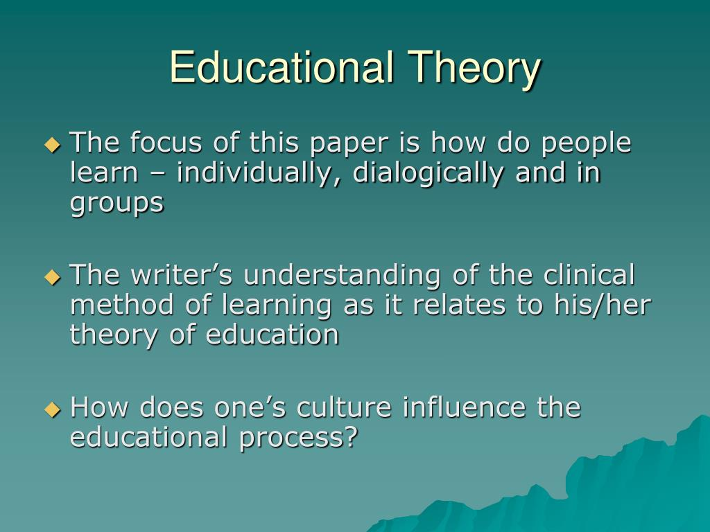 theorist paper Child development theorist paper - abraham maslow standard #8: instructional strategies the teacher understands and uses a variety of instructional strategies to.