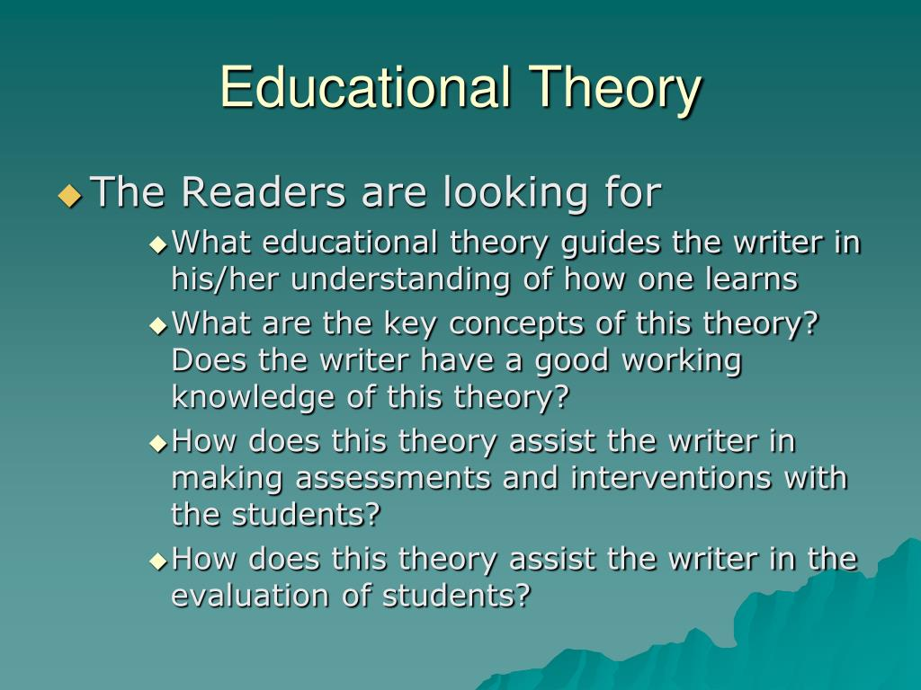 teaching theories essay Constructivism learning theory constructivism learning theory is a philosophy which enhances students' logical and conceptual growth the underlying concept within.