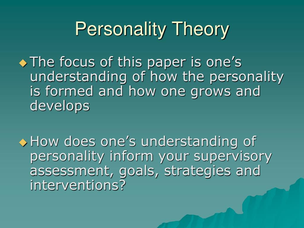 an analysis of my theory of personality How personality affects situational behavior relative to learning theory human behavior is associated with cognitive and environmental factors (feist & feist, 2009.