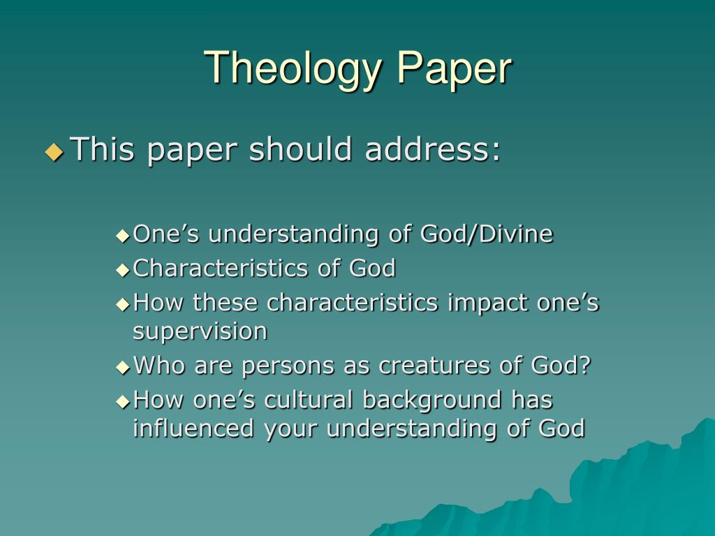 Write my theology paper