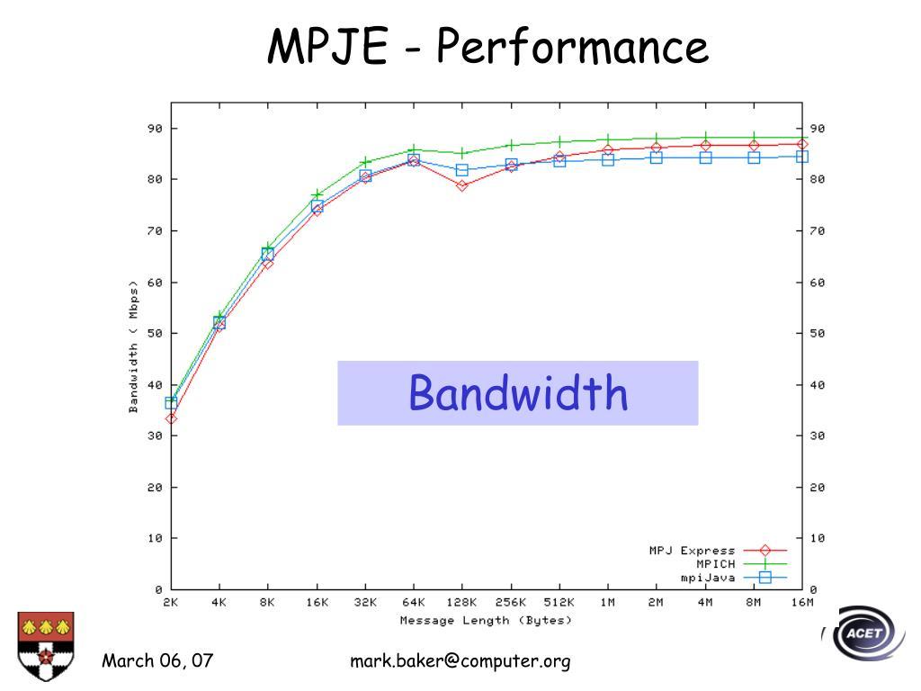 MPJE - Performance