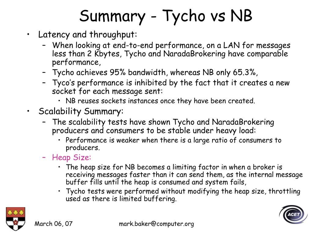 Summary - Tycho vs NB