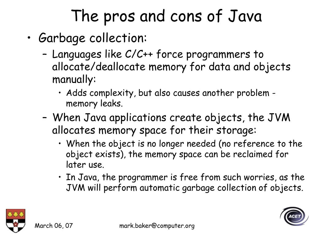 The pros and cons of Java