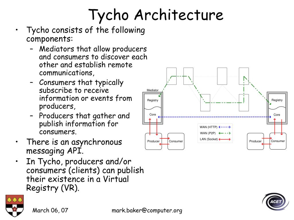Tycho consists of the following components: