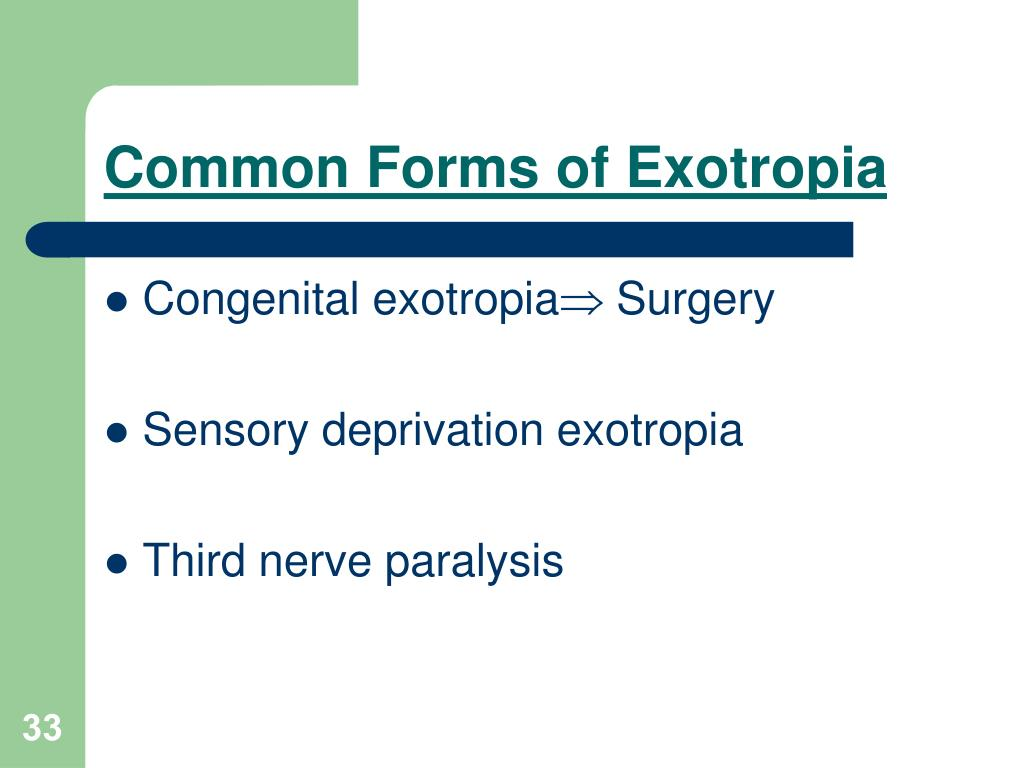 Common Forms of Exotropia