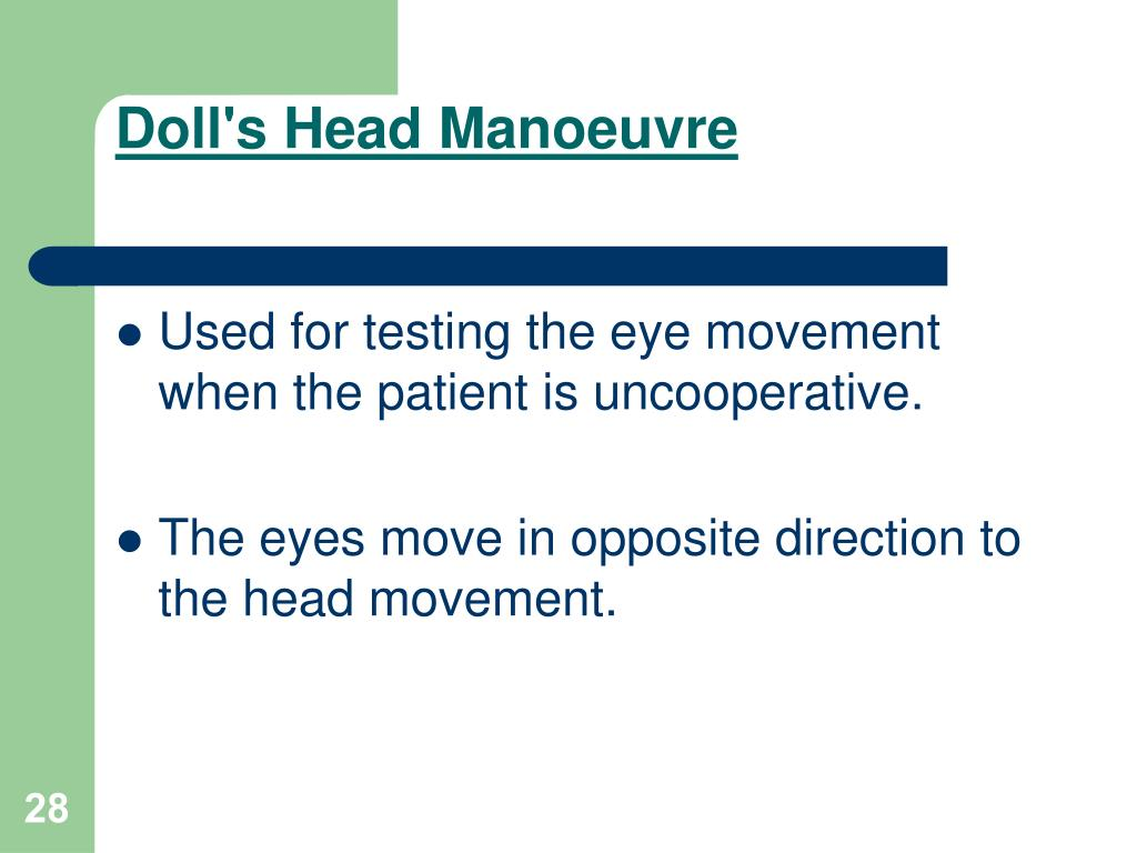 Doll's Head Manoeuvre