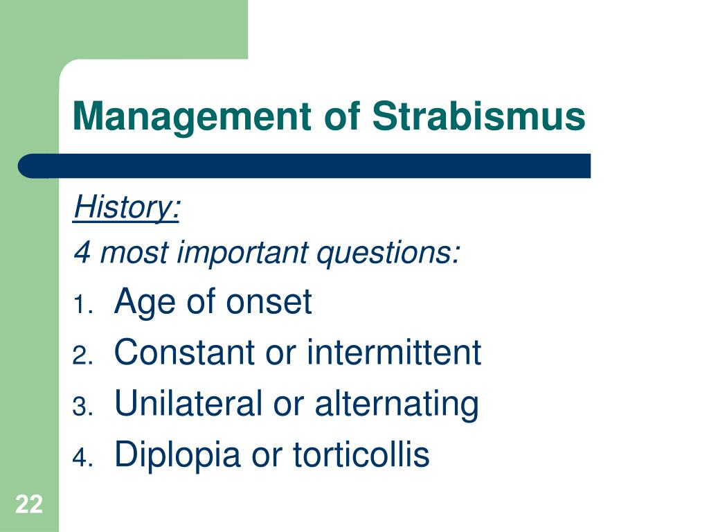 Management of Strabismus