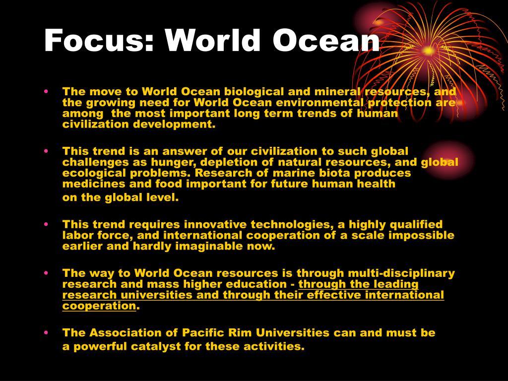 Focus: World Ocean