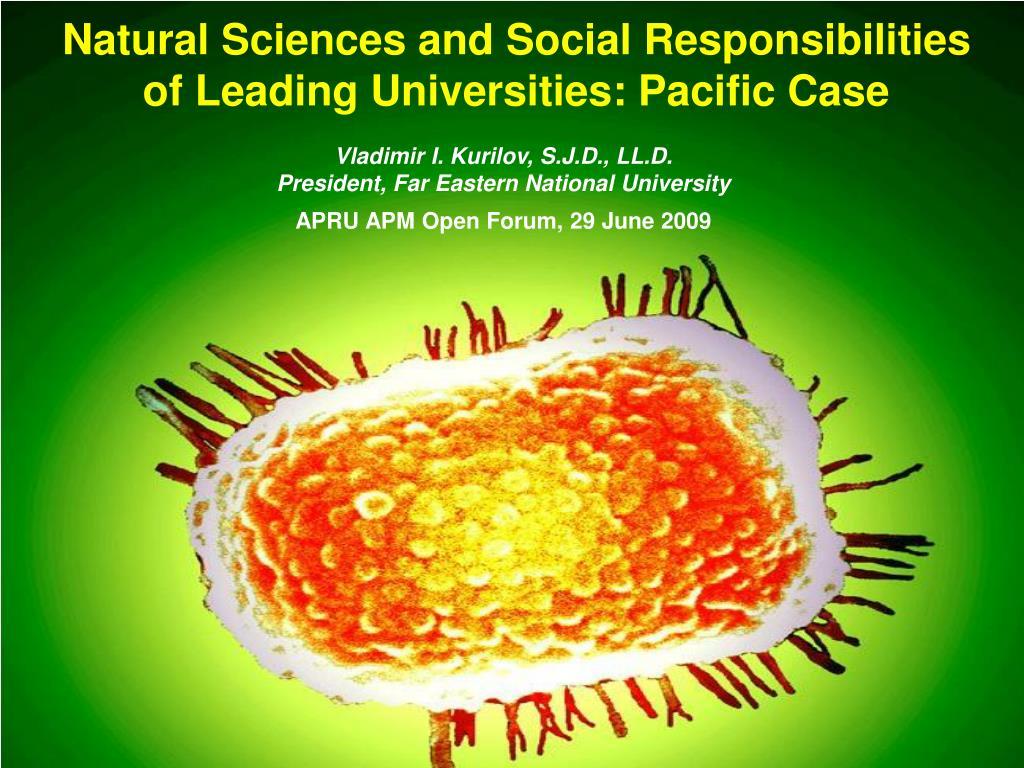 Natural Sciences and Social Responsibilities