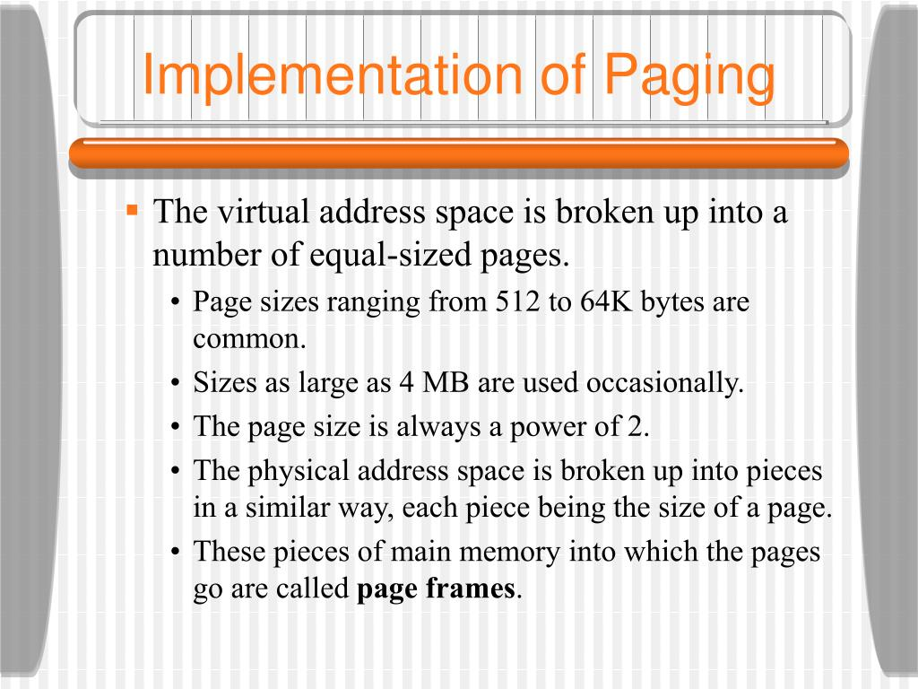 Implementation of Paging