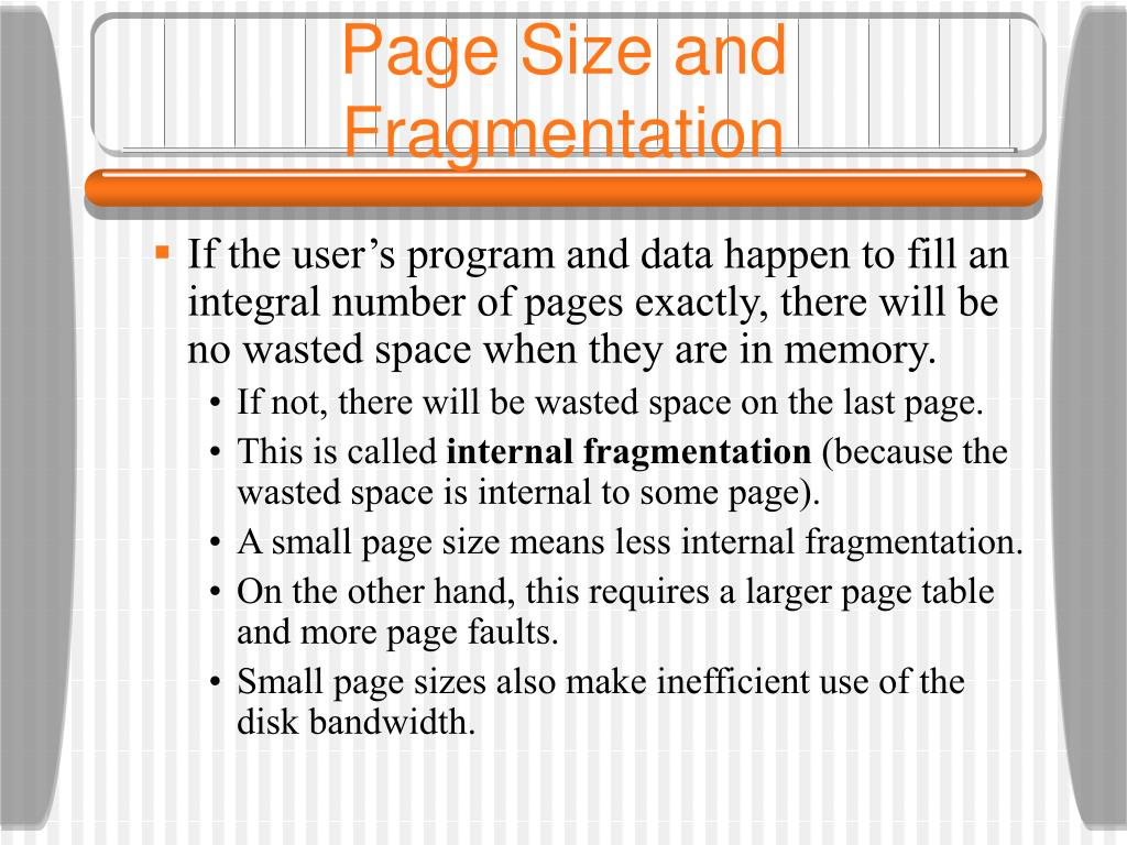 Page Size and Fragmentation