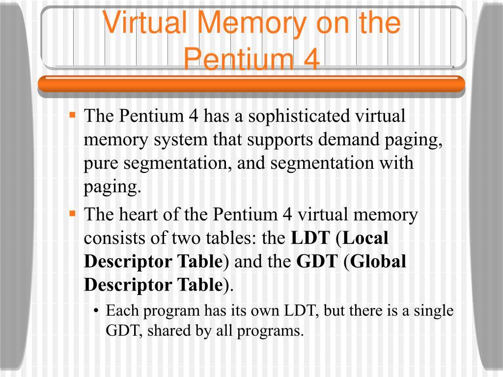 Virtual Memory on the Pentium 4
