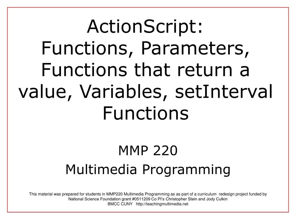 ActionScript: