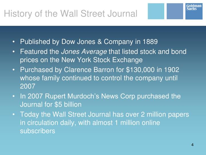 History of the Wall Street Journal