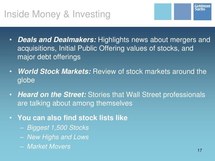 Inside Money & Investing