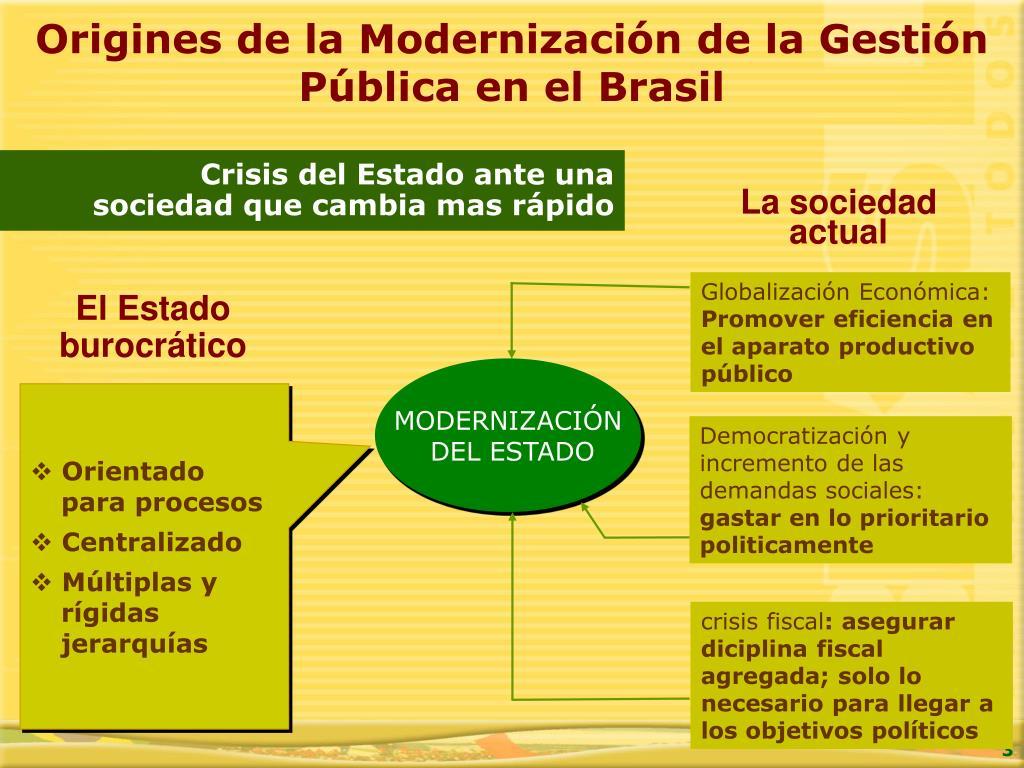 Origines de la Modernización de la Gestión Pública en el Brasil