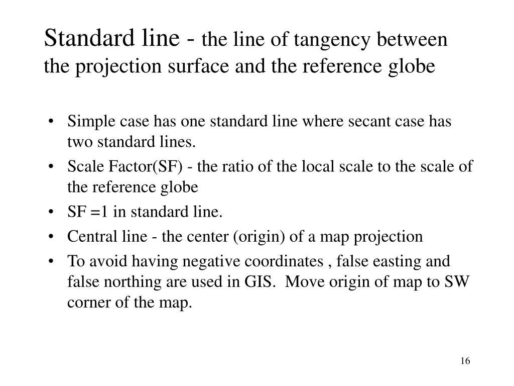Standard line -