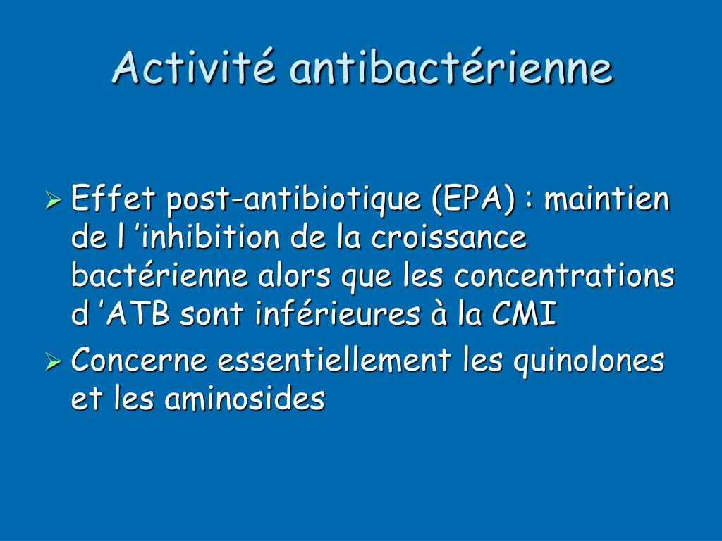 Activité antibactérienne