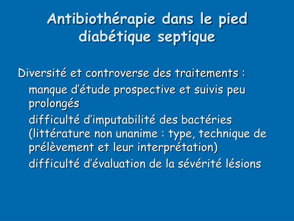 Antibiothérapie dans le pied diabétique septique