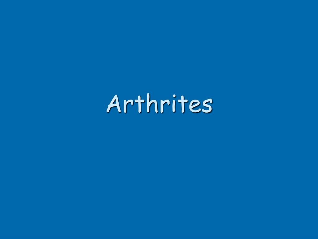 Arthrites