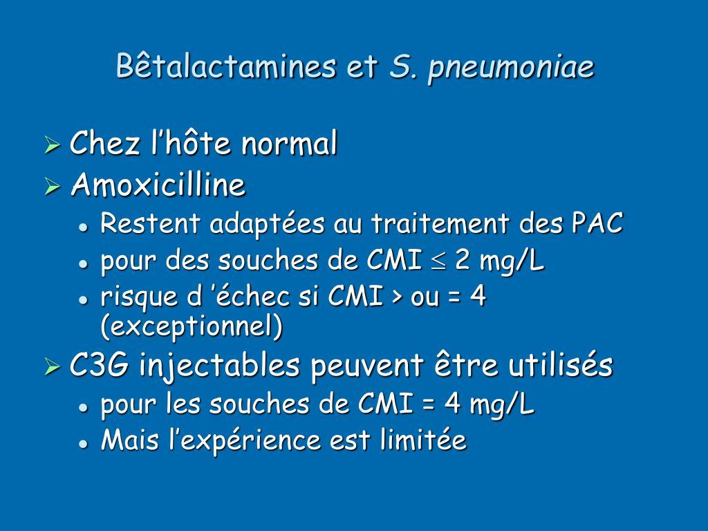 Bêtalactamines et