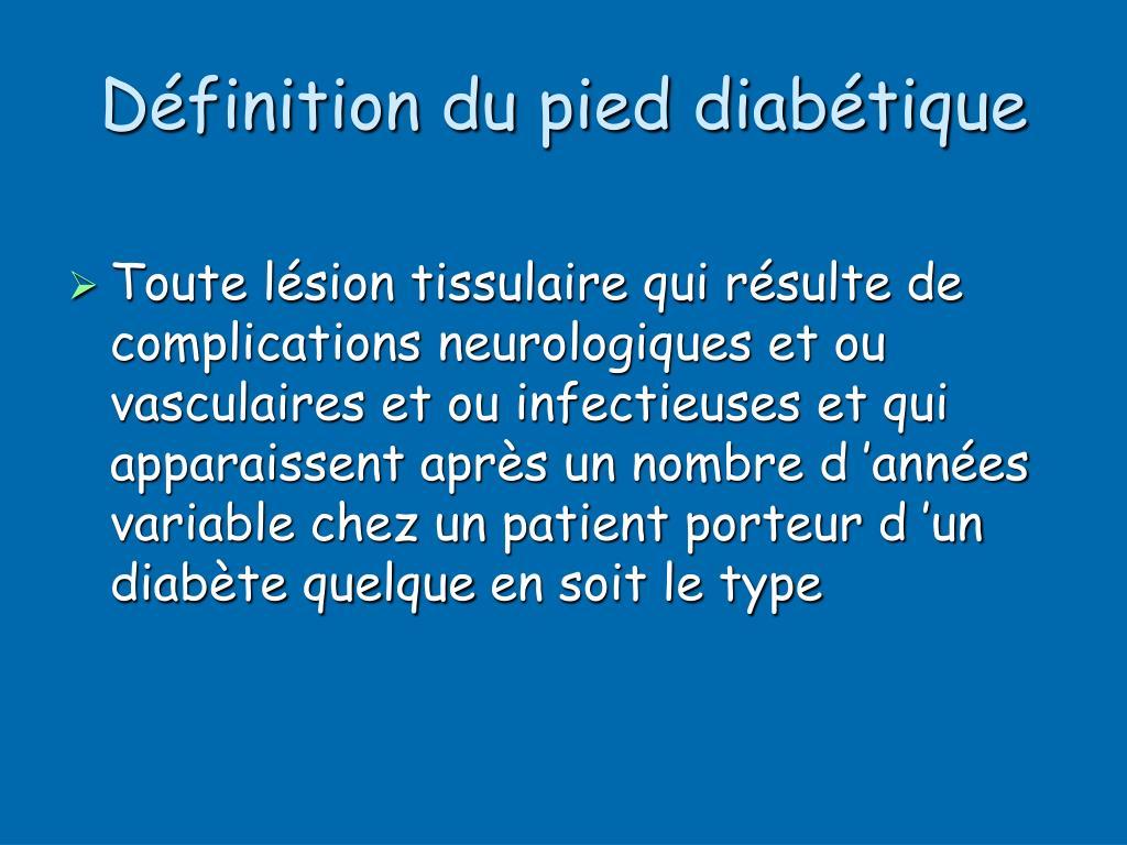 Définition du pied diabétique