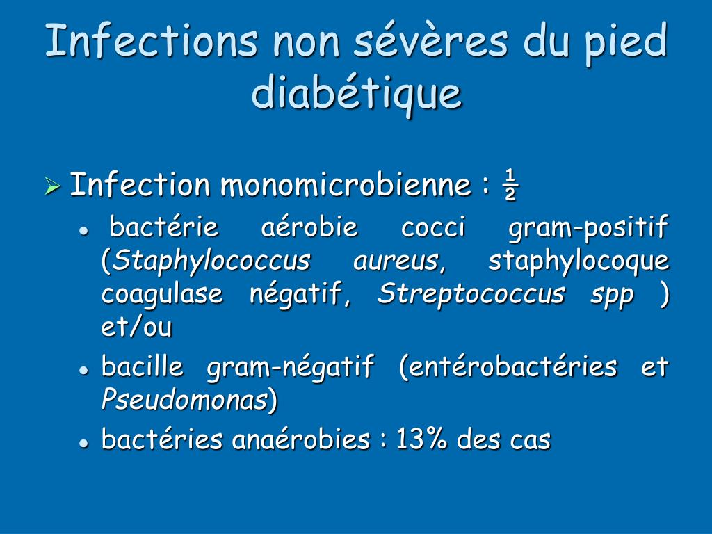 Infections non sévères du pied diabétique