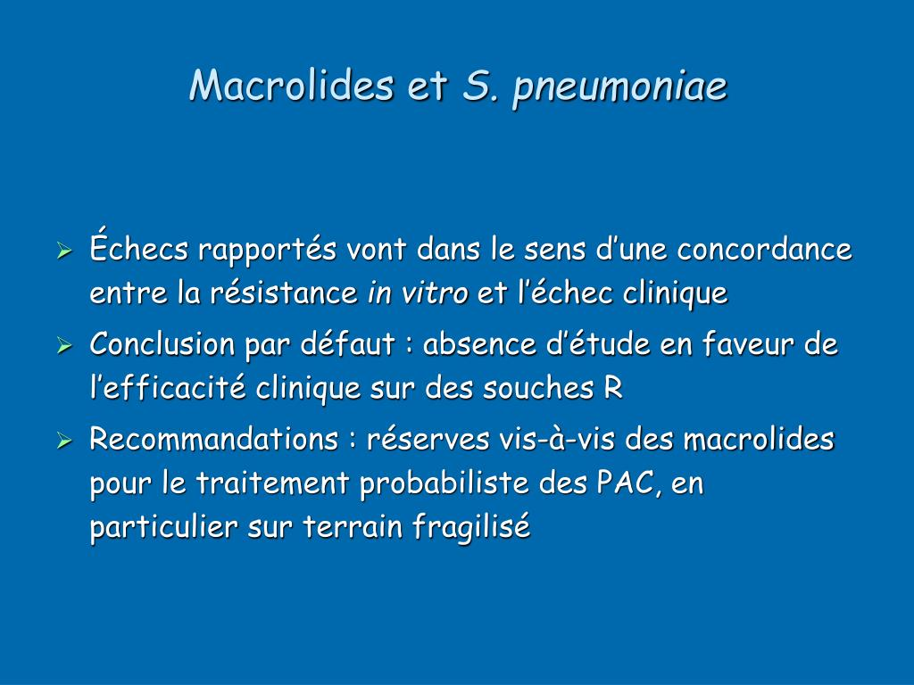 Macrolides et