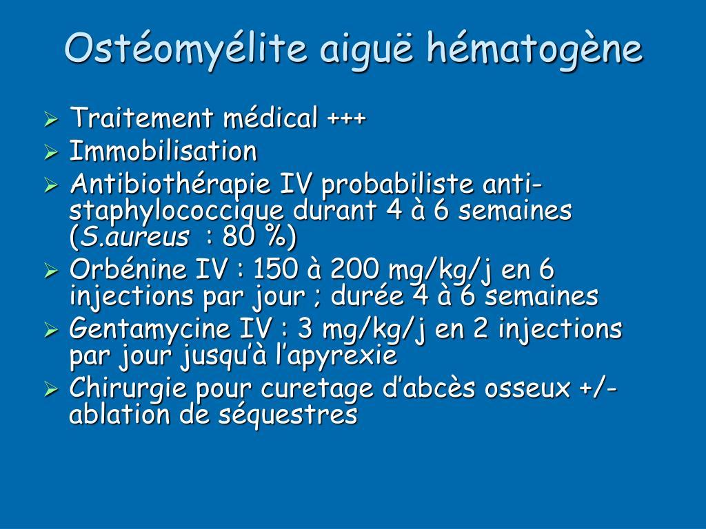 Ostéomyélite aiguë hématogène