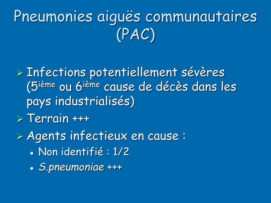 Pneumonies aiguës communautaires