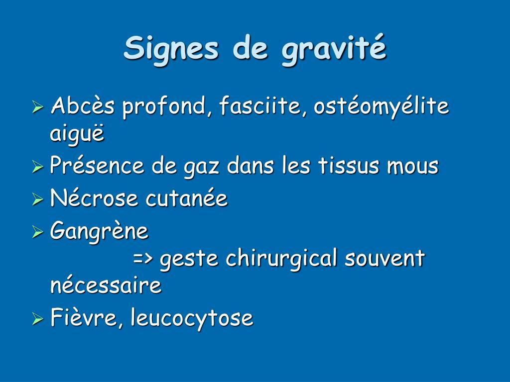 Signes de gravité