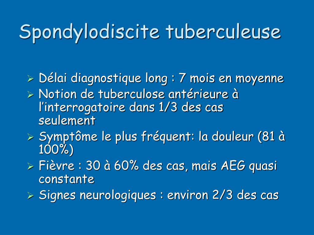 Spondylodiscite tuberculeuse