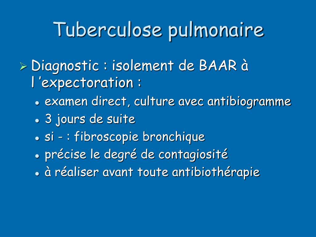Tuberculose pulmonaire