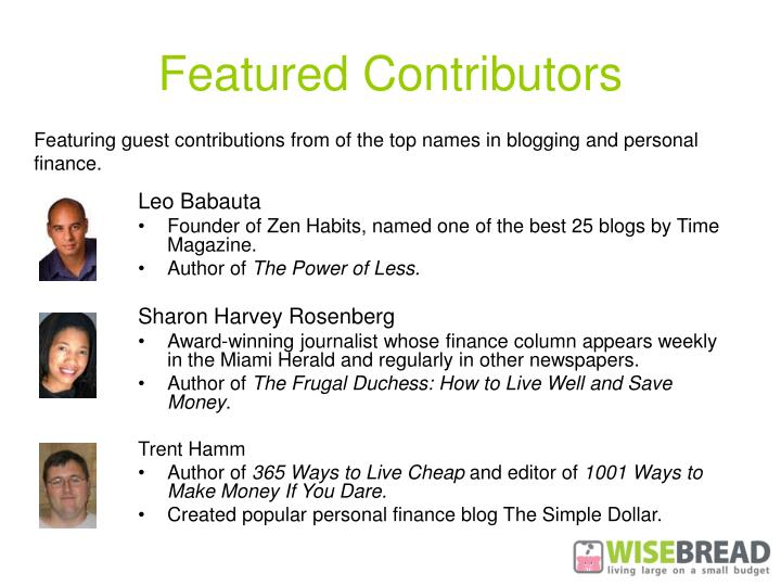 Featured Contributors