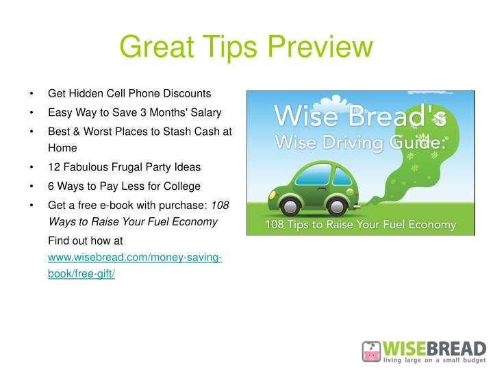 Great Tips Preview