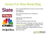 honors for wise bread blog