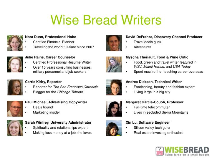 Wise Bread Writers