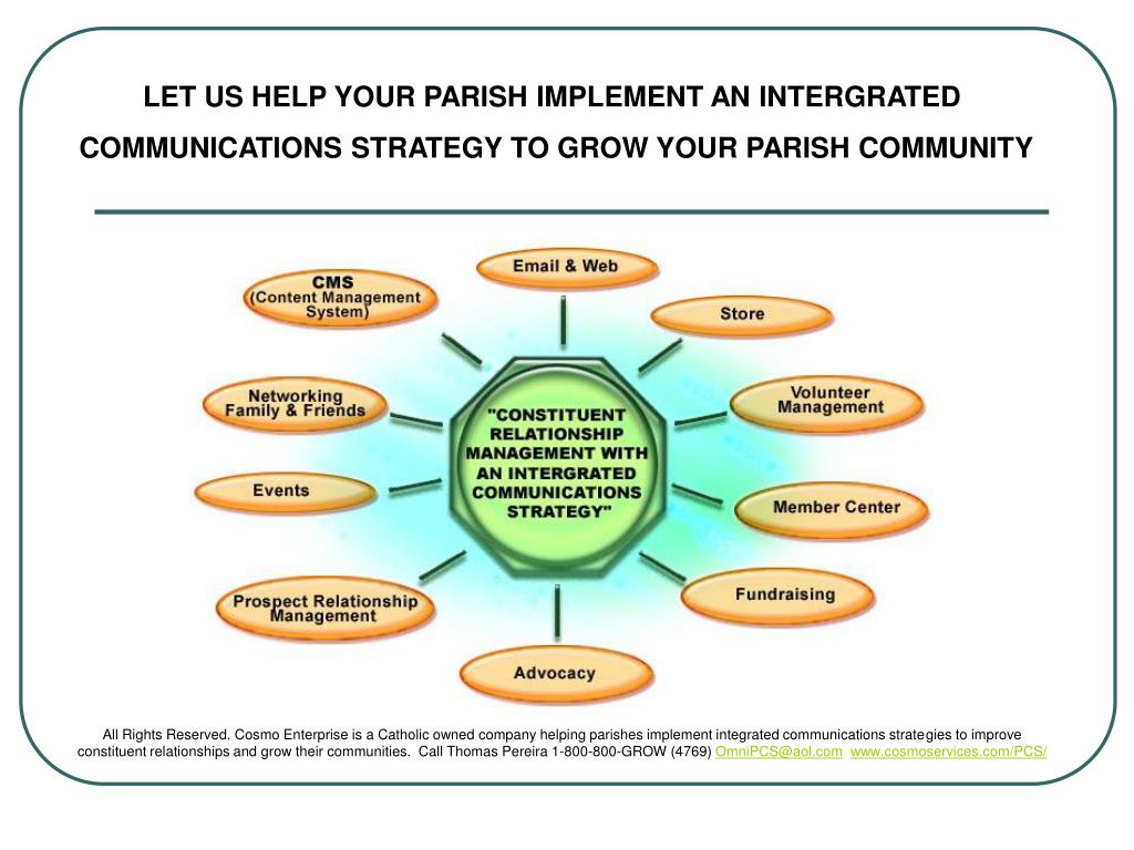 LET US HELP YOUR PARISH IMPLEMENT AN INTERGRATED
