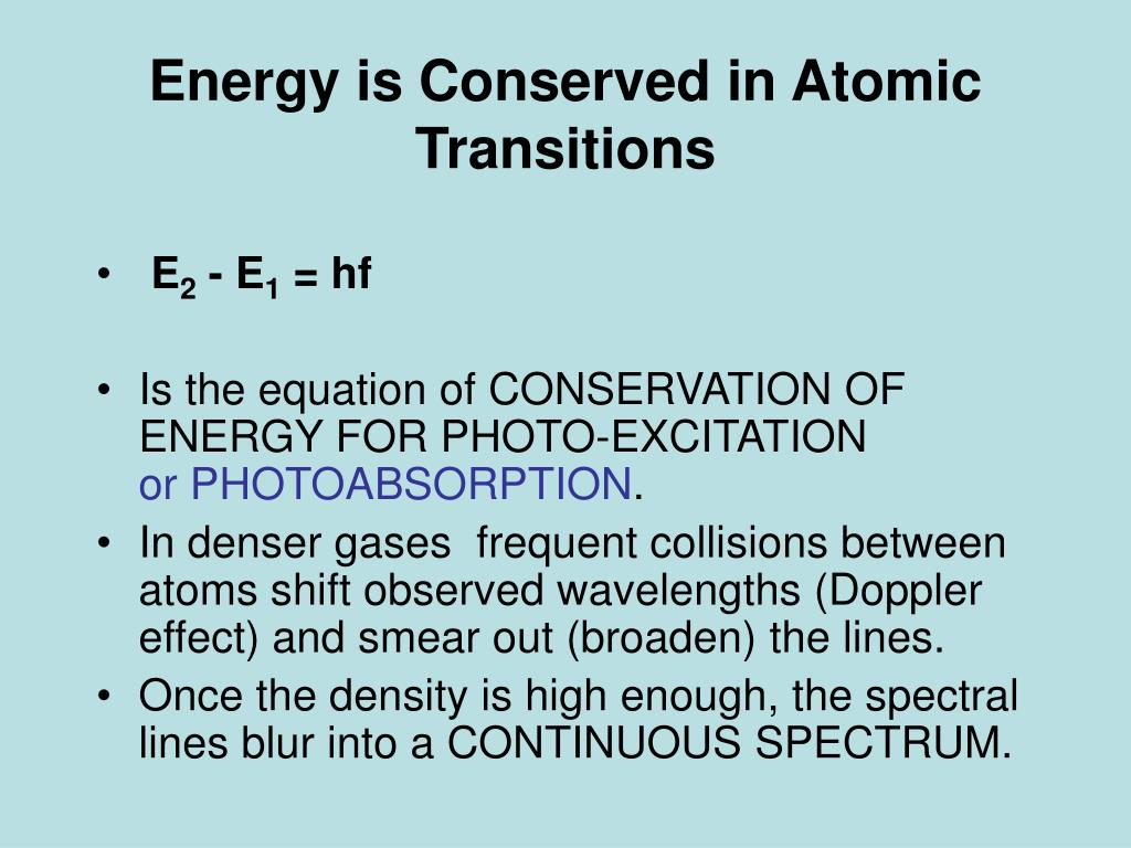 Energy is Conserved in Atomic Transitions