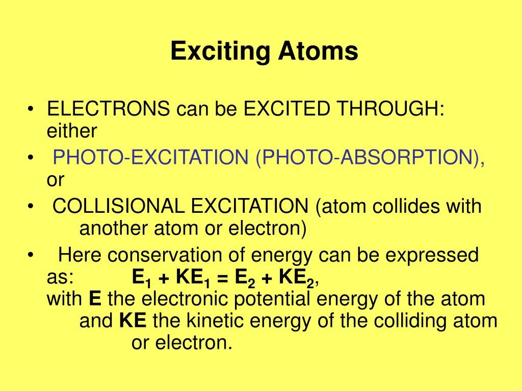 Exciting Atoms