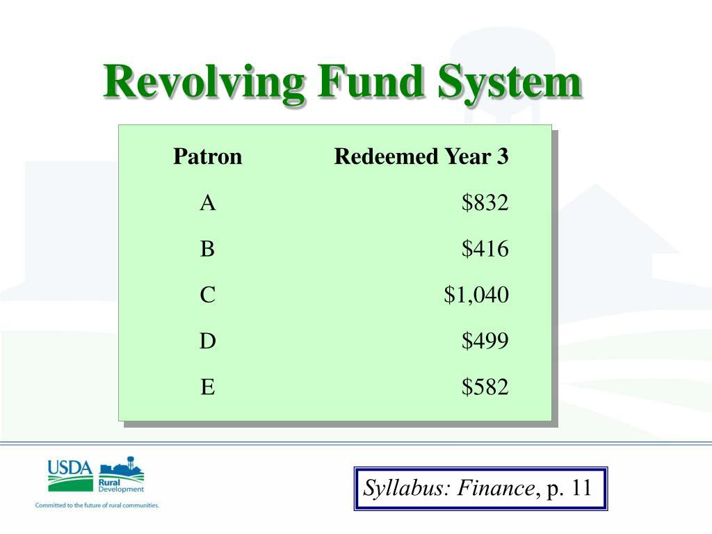 Revolving Fund System