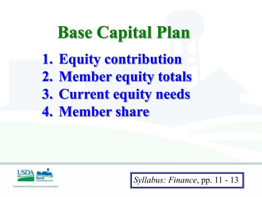 Base Capital Plan