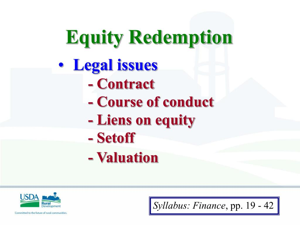 Equity Redemption