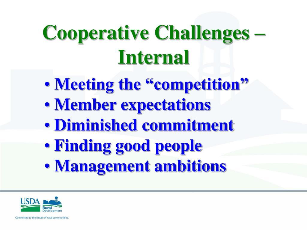 Cooperative Challenges –