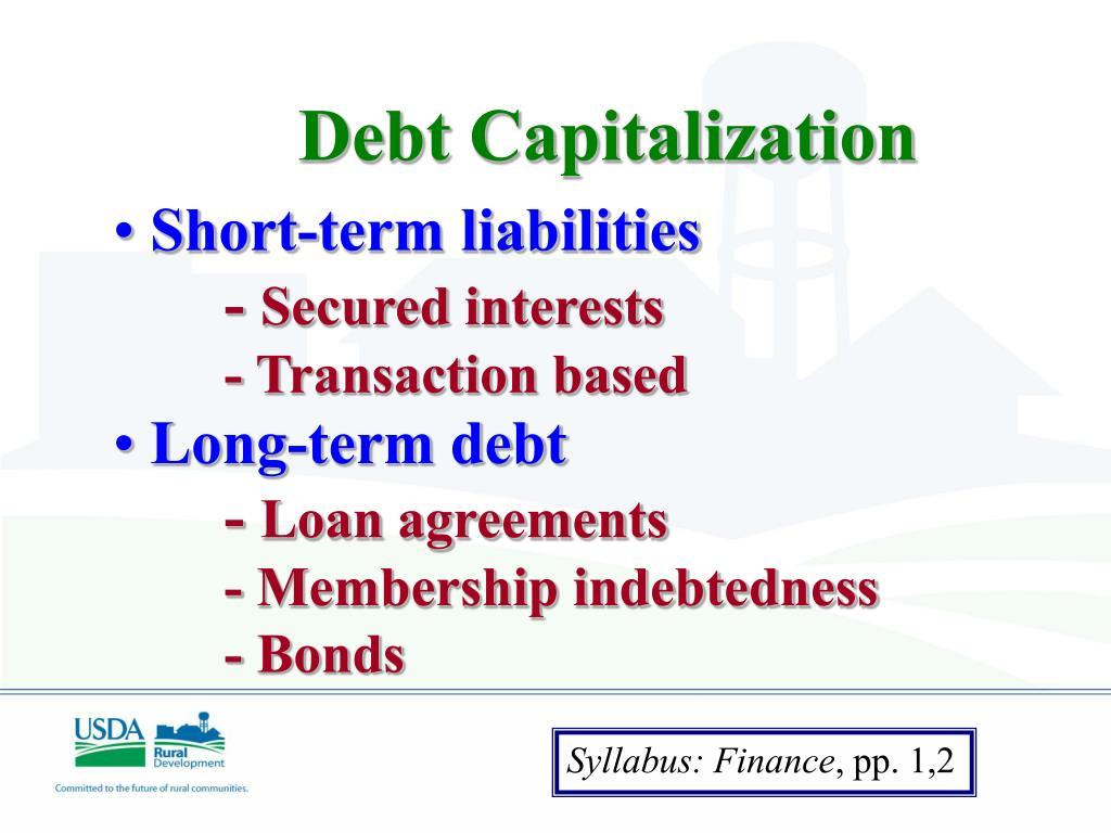 Debt Capitalization