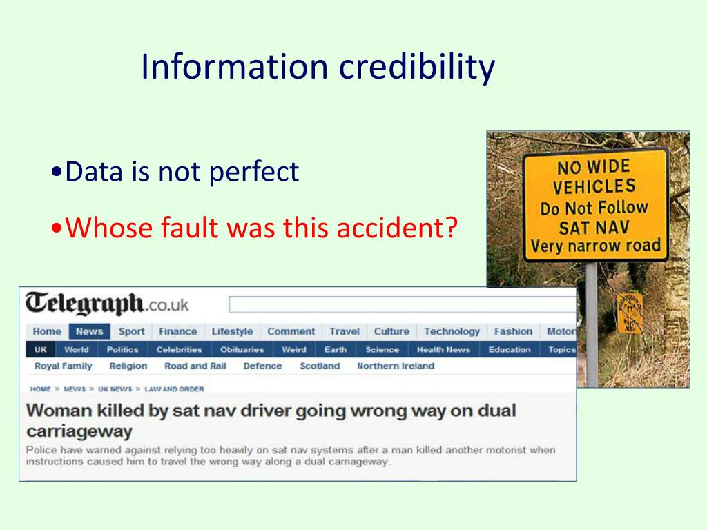 Information credibility